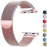 VIKATech Compatible Cinturino per Apple Watch Cinturino 40mm 38mm, Cinturino Orologio Bracciale in Acciaio Inossidabile Cinghia Banda Bracciale per iWatch Series 5/4/3/2/1 Oro Rose