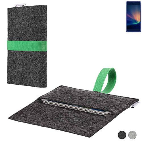 flat.design Handy Hülle Aveiro für Hisense A2 Pro passgenaue Filz Tasche Case Sleeve Made in Germany