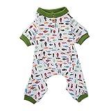 PanDaDa Weiche Baumwollmeer & Fische Hundepyjamas Hundebekleidung Hund Shirt Cozy Dog Clothes Haustierhemd Kleidung
