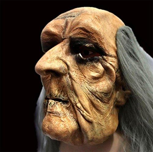 DZW Super Horror Bar Halloween Grimasse Kopfbedeckung Glatze Kahl Alter Mann Zombie Maske High qualityModellierung realistisch