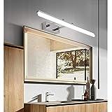 Yafido Applique da bagno LED Lampada Specchio Bagno Interno Moderno Staffa Regolabile Bagno Luce per Trucco 12W Bianco Neutro 4000K 1000LM 50CM Non-dimmerabile IP44