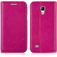JAMMYLIZARD   Ledertasche Flip Cover für Samsung Galaxy S4Mini, Pink
