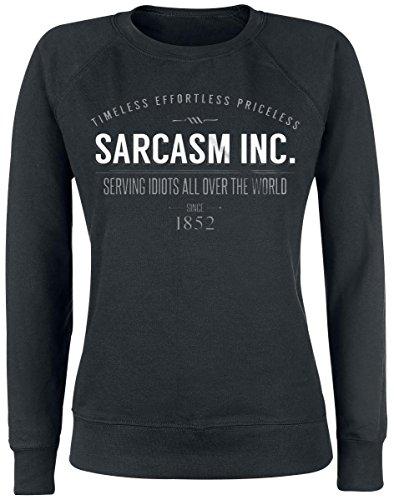 Sarcasm Inc. Felpa donna nero M