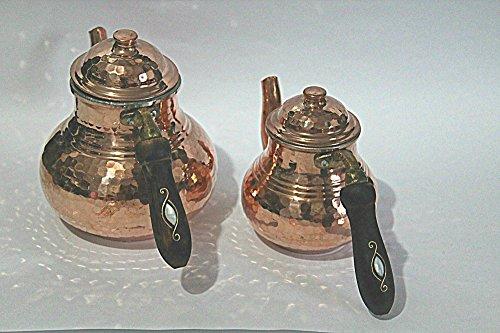 Kupfer Teekanne,Teekanne,türkischer tee,türkische teekanne,caydanlik,teekocher,wasserkocher (5-7)