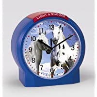 Atlanta Kinderwecker Pferde Blau Ohne Ticken Analog Quarz - 1189-5