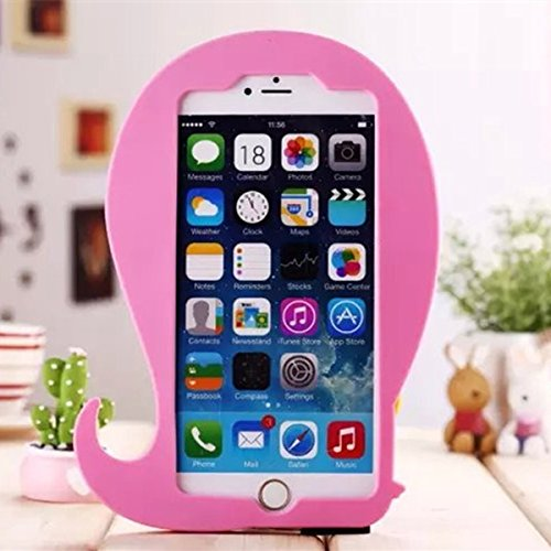Citrouilles mignon 3D Luminous Apparitions Esprit Case Cover en silicone souple pour l'iPhone 5 5S rose