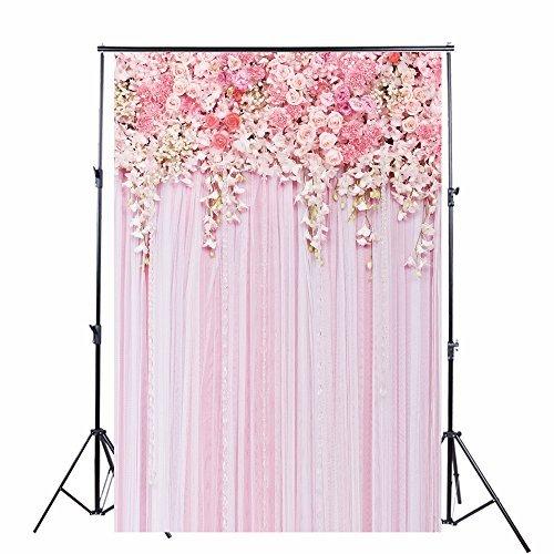 Rosa Blumenfoto-Hintergrund des Valentinsgrußes KonPon 150x220cm dünne Vinyl-Fotografie-Hintergrund für Fotostudio oder Partei-Abbildungen KP-270