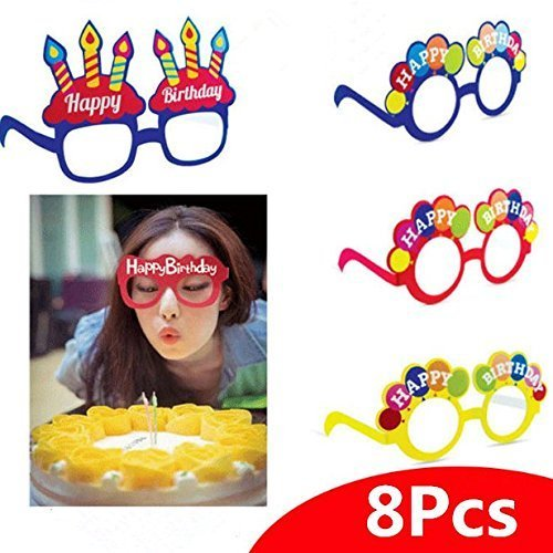 377ea23ecd6 ... Decorative Glasses Funny Ice Cream Candle Shaped Novelty Costume  Sunglasses for Birthday Party Decoration Supplies Gift Mix Color - Buy  Online in Oman.