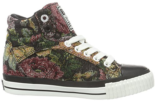 British Knights Unisex-Kinder DEE High-Top Schwarz (black/flower 07)