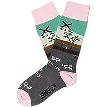 Jimmy Lion Herren Socken Moo, Grau (Grey), Einheitsgröße (Herstellergröße:41-46)