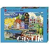 Heye 29683 - Standardpuzzle, Kitty McCall, City Life I Love Amsterdam, 1000 Teile