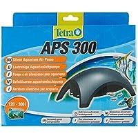 Tetra APS 300 Aquarienluftpumpe (leise laufruhig leistungsstark, mit Lufthahn zur Kontrolle des Luftstroms, ohne Luftpumpenschlauch Ausströmer Rückschlagventil), anthrazit