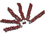 Spezial verstärkte Fahrradkette Rot 112 x 1/8