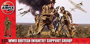 Airfix - Kit de modelismo, Figuras WW.11 British Infantry Support Set, 1:36 (Hornby A04710)