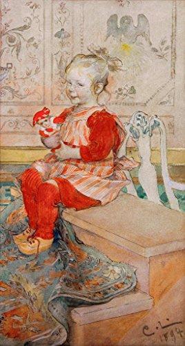 Kunstdruck/Poster: Carl Larsson Lisbeth - hochwertiger Druck, Bild, Kunstposter, 40x75 cm -
