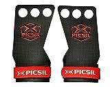PICSIL RX Carbon 3H - Maniques Crossfit pour la Gymnastique, Les Pull-ups, la levée de Poids. Protégez Vos Paumes. Taille L. Couleur Rouge