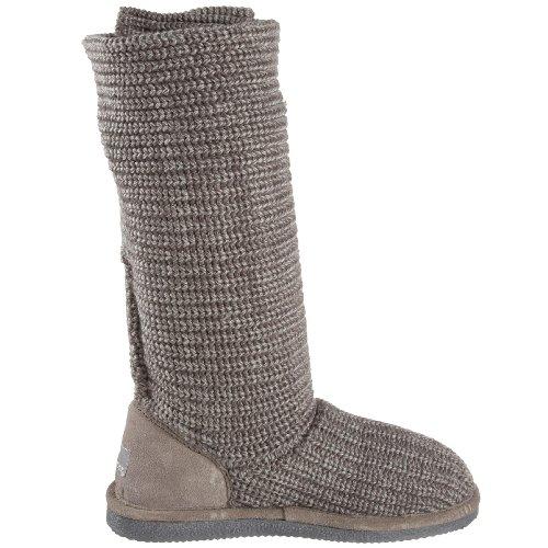 Bearpaw Knit Tall Chestnut Fur T, Bottes femmes Gris - Grau (GRAY II  055)