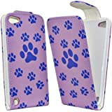 Accessory Master - Etui en cuir pour Apple ipod touch 5 - Violet conception Pied