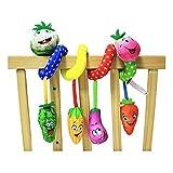 PER Cute Culla di verdure Giocattolo Culla Culla a spirale Hanging Toys Baby Infant Passeggini Carrozzina Giocattolo Passeggino multifunzionale con musica (G)