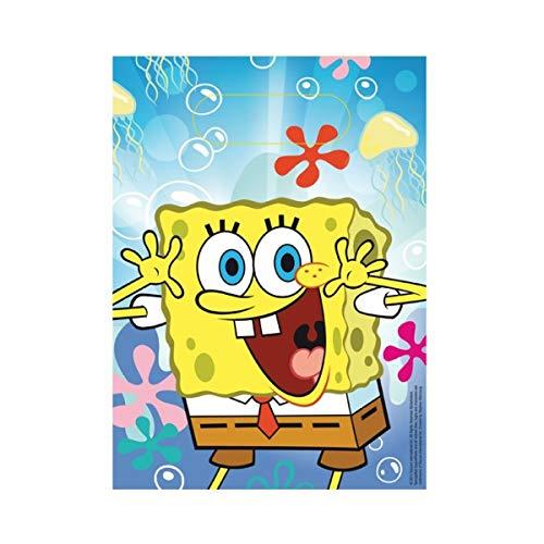 6 Geschenktüten Spongebob Schwammkopf (Geburtstag Sponge Bob)