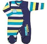 Be Mammy Kinder Baby Strampler BEEK0023(Dunkelblau/Streifen, 86)