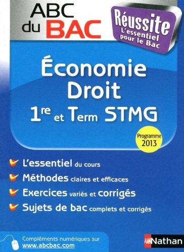 ABC du BAC Russite Economie Droit 1re et Term STMG