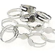 Supports de bagues réglables pour la création de bijoux fimo , Lot de 10 /  Tamis