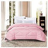 WYUKUAN Steppdecken Bettdecken Warme Winter Extra Dicke Polyesterfaser Poly Luxury Hollow Single Double Quilt, 5 Farben, 3 Größen (Color : Pink#B, Size : 150X215CM)