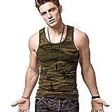 XDIAN Herren Camouflage Tank top Baumwolle Stretchy Muskel Fitness Militär ärmelloses t-Shirt …