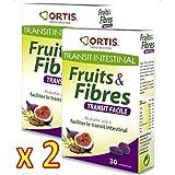 Ortis - Fruits & fibres comprimés - Favorise un transit intestinal régulier - Lot de 2 x 30 comprimés