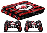 Skin Ps4 SLIM - FOGGIA ULTRAS CALCIO - limited edition DECAL COVER ADESIVA Playstation 4 Slim SONY BUNDLE