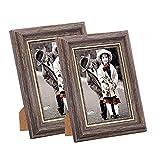Msicyness Fotorahmen 8x10/20x25cm Vintage Portrait Bilderrahmen Retro Landschaft & Horizontale Poster Rahmen stehend oder an der Wand montierbar, Geburtstagsgeschenk für Eltern Frau Hochzeitstag