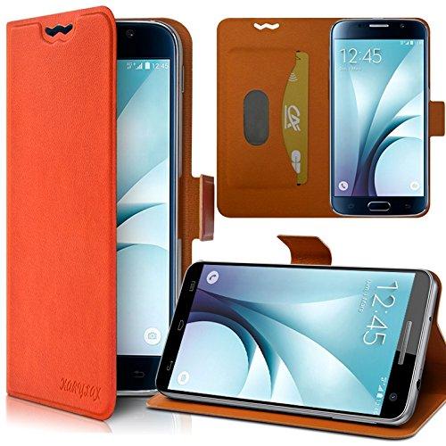 Seluxion - Housse Etui Support 360 degrés Universel M couleur Orange pour Danew Konnect 501