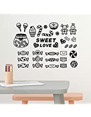 Solimo Wall Sticker for Dining Room (Candy Love,  ideal size on wall: 43 cm x 31 cm )