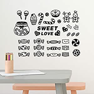 Amazon Brand - Solimo Wall Sticker for Dining Room (Candy Love, Ideal Size on Wall: 43 cm x 31 cm)