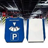 yizhi2325 Temporizador Hora de Llegada Disco de estacionamiento del automóvil Pantalla de plástico Azul Herramienta de Tiempo de estacionamiento con Pala de Nieve Accesorios para el automóvil