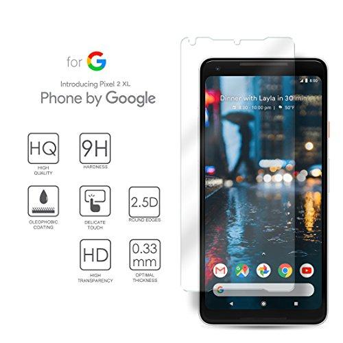 Google Pixel 2 XL Hartglas Schutzfolie Displayschutz, Gehärtetem Glass Folie für Google Pixel 2 XL, Pixel XL2, 6.0 Zoll - 9H Glashärte, Kratzfeste und Ölabweisende Beschichtung, HD Transparenz und Feingefühl