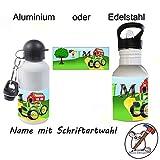 Kinder Trinkflasche mit Traktor Motiv und Name