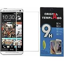 Fologar Protector de Pantalla Cristal Templado para HTC ONE M7