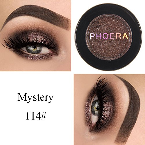 Lidschatten Palette Golden Pailletten Lidschatten Metallic Eye Augen Schatten Cosmetic Glitzer Schimmern Lidschatten Make Up Highlighter Cream Powder Palette von Frashing