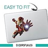 Flying ironman macbook sticker - decals for macbook - marvel sticker - Ironman, Batman, Superman, Spiderman by decorsfuk.co