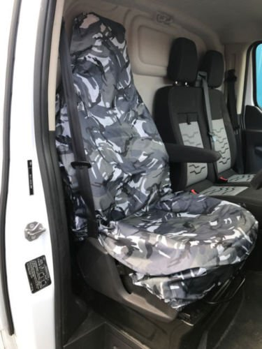 cadillac-sts-single-driver-heavy-duty-camouflage-waterproof-seat-cover-protectors-grey