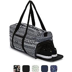 Sac de sport élégant Ela Mo's avec compartiment chaussures - 38l - bagages à main - pour les hommes et les femmes - dans 6designs tendance, Aztec Tribute, L