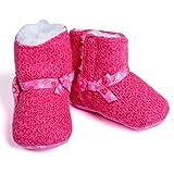 Baby Bucket Baby Shoes Boots Crib Shoes Fleece Prewalker Boots-Pink