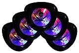 GYD LED Augenmaske Pirat-Kostüm Augenmaske Accessoires Lichterspiel 5er Set