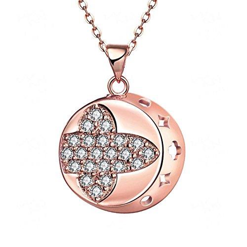 Axiba Europa und die USA Retro-Legierung Ornamente Rose Gold eingelegten Zirkon-Halskette Allergie-Nachweis Das schönste Geschenk