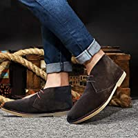 Mens Casual Smart Leather Suede Chukka Lace Up Chelsea Ankle Boots Shoes Size 6-12