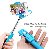 Selfie Stick, newisdom [2016 moda Electronic viajando regalos] autorretrato monopié extensible [Plug and Play] Wired selfie stick w/integrado remoto para iPhone 6S, iPhone 6S Plus, iPhone 6/6 Plus, iPhone 5S/5, Samsung Galaxy S6 borde +/S6 borde/s5/Nota 5/4/3, LG G4/G3, Lumia 1020, etc Android, Wired