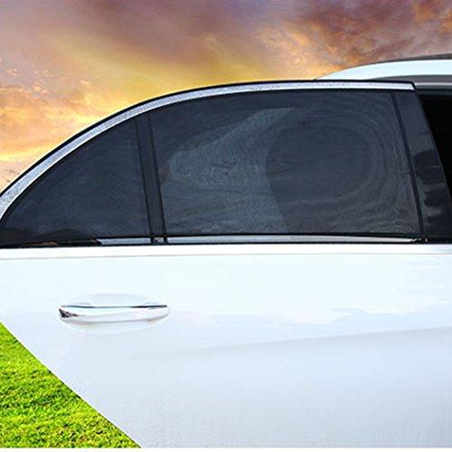 Selbsthaftend Autosonnenschutz 20&39 Zoll Sonnenblende aus Nylon Autofenster Sonnenschutz UV Schutz für Kinder Auto-Sonnenschutzrollo 2er Set Schwarz