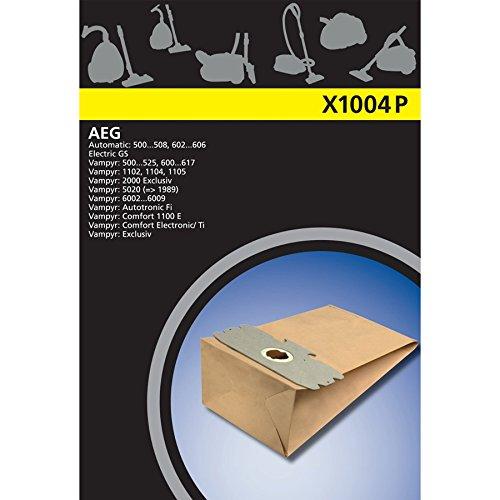 Electrolux X1004P X-Range K5 papel bolsa de la aspiradora para AEG Vampyr 500, GR12